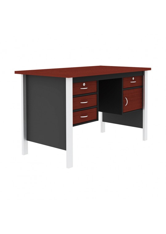 Mortred Office Desk 2D with Iron Feet